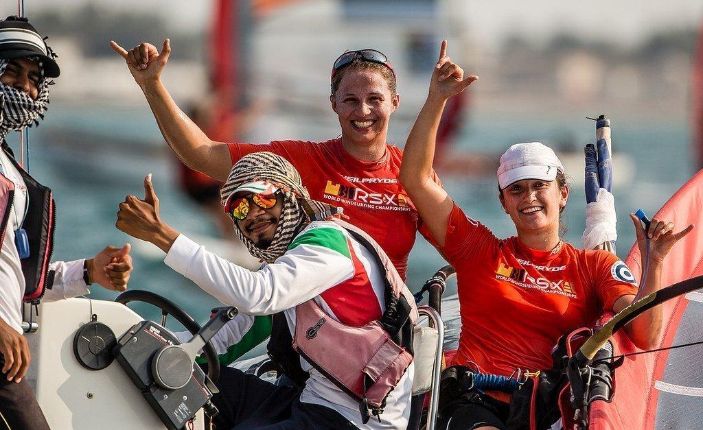 Helene Noesmoen au Championnat du monde de RSX 2015 a Oman