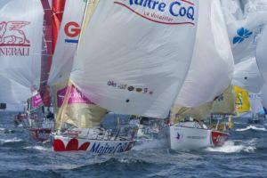 Solitaire du Figaro 2014 - Maître CoQ - Jérémie Beyou : Une 1ère place au classement général provisoire en cadeau d'anniversaire