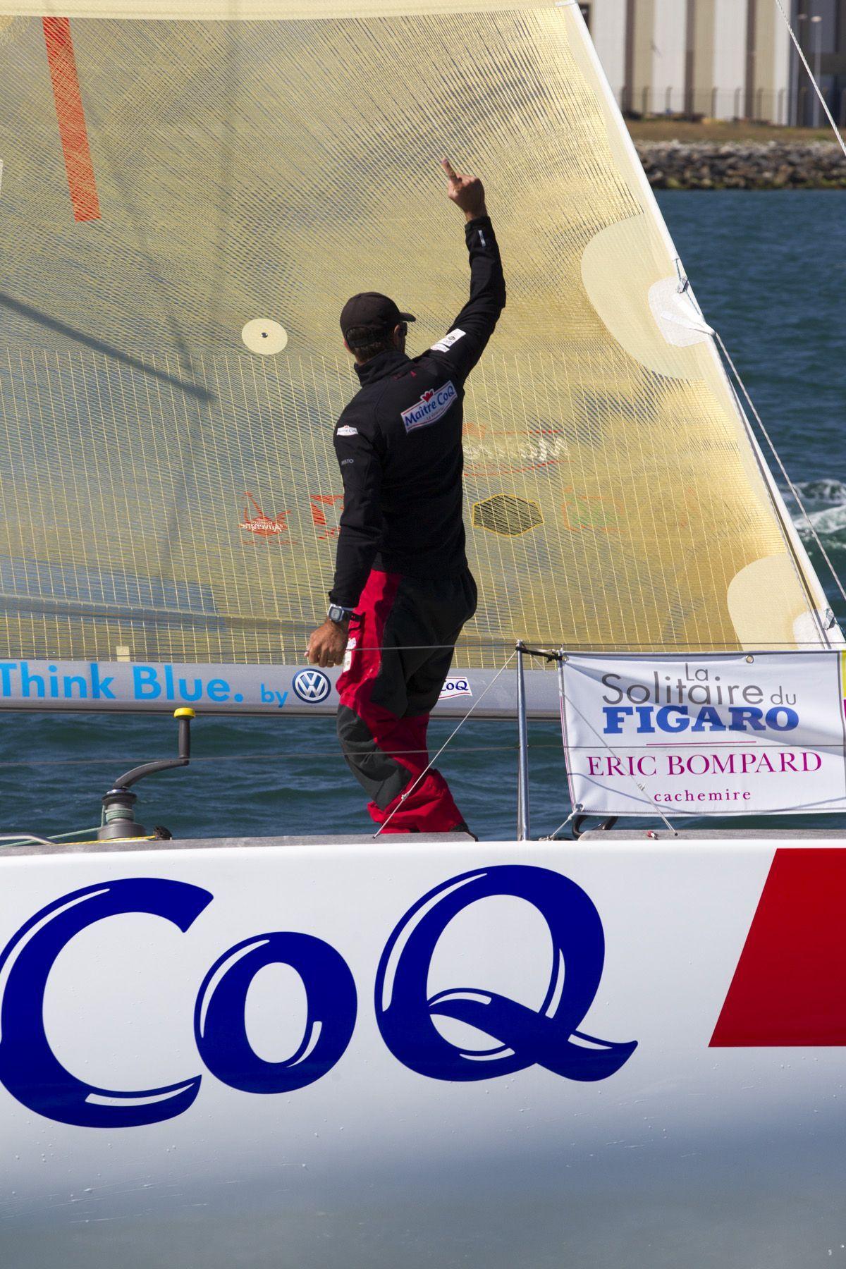 Solitaire du Figaro 2014 - Maître CoQ - Jérémie Beyou : Jeu, set et triplé pour Jérémie Beyou