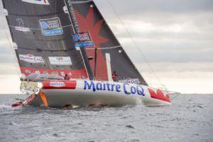 Transat Jacques Vabre 2015 - Maître CoQ - Jérémie Beyou : Jérémie Beyou et Philippe Legros en double sur la Transat Jacques Vabre