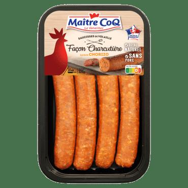 Saucisses de volaille façon charcutière Saveur Chorizo