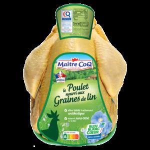 poulet graine de lin maitre coq