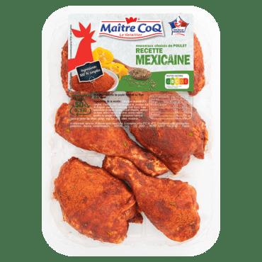 Cuisses de poulet découpées à la Mexicaine