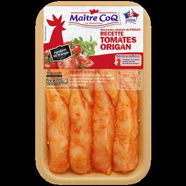Aiguillettes de poulet marinées aux Tomates et à l'Origan