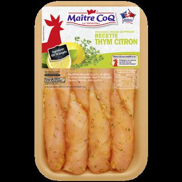 Aiguillettes de poulet marinées au Thym et au Citron