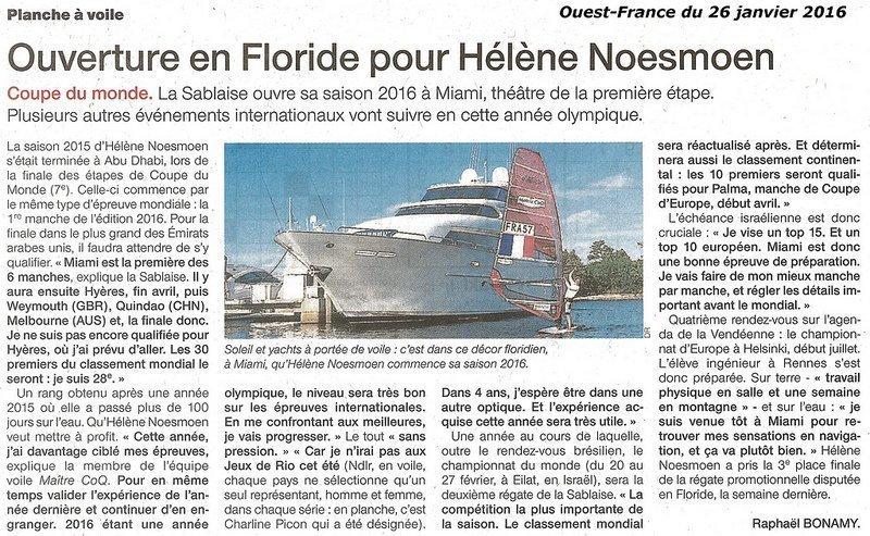 article OF - Ouverture en Floride pour Hélène Noesmoen