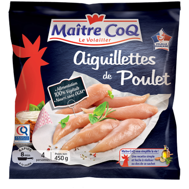 Aiguillettes de poulet certifié SURGELEES