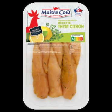 Aiguillettes de poulet marinées au thym et au citron Maître CoQ