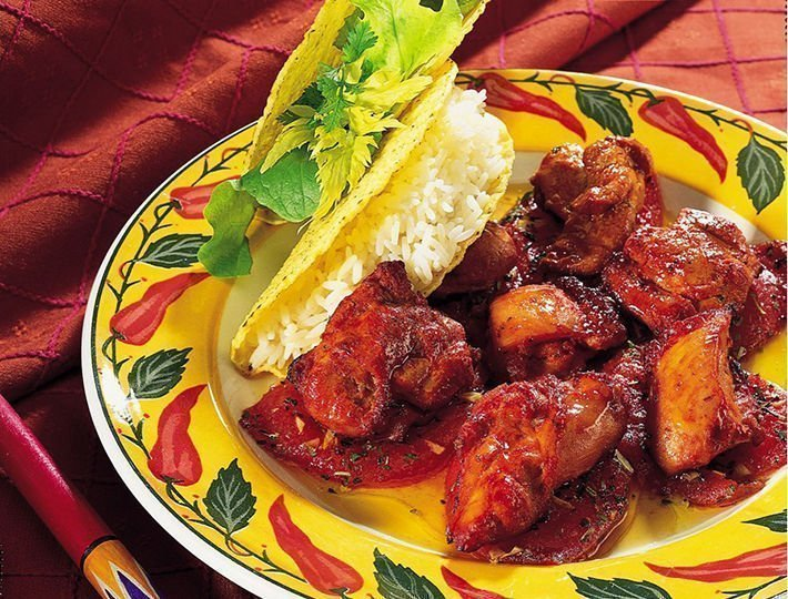 Bouchées de poulet mexicaine et concassée de tomates fraîches à l'huile d'olive, Maître CoQ.