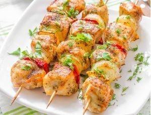 Recette pour les barbcue, Brochettes de poulet à la papaye.