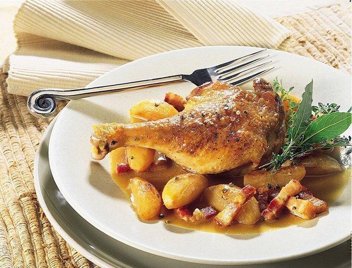 Recette de cuisses de canard aux navets, Maître CoQ.