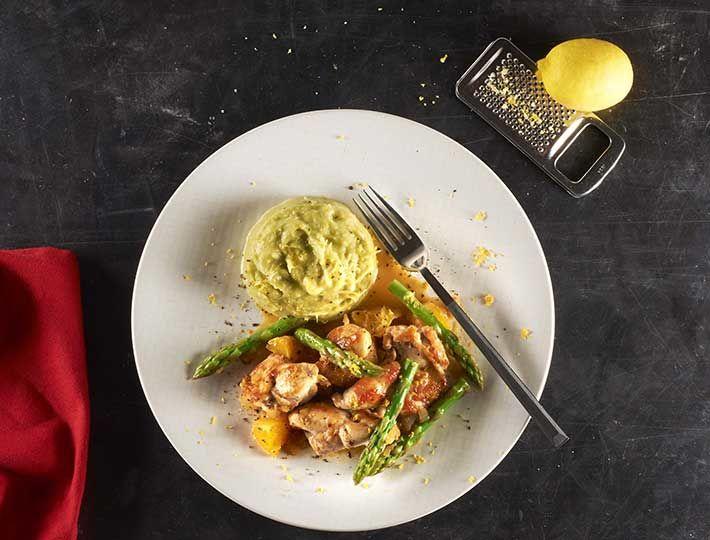 Maître CoQ vous propose sa recette de sauté de dinde accompagnée de sa succulente purée d'asperges. Un plat traditionnel à découvrir sans attendre !