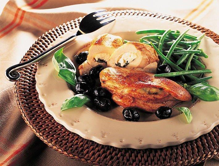 Recette du quotidien Maître CoQ, escalopes de poulet au chèvre et au basilic