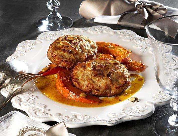 Recette Maître CoQ extra de poulet grillé avec potimarron et confit de miel et caradmome