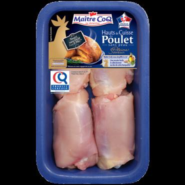 Haut de cuisse sans peau de poulet certifié Pleine Saveur