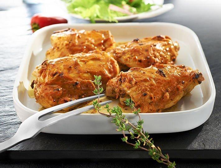 Recette du quotidien Maître CoQ, hauts de cuisse de poulet à la sauce diable