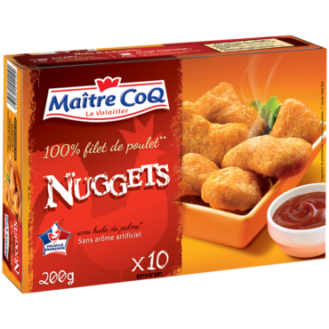 10 Nuggets 100 % filet de poulet