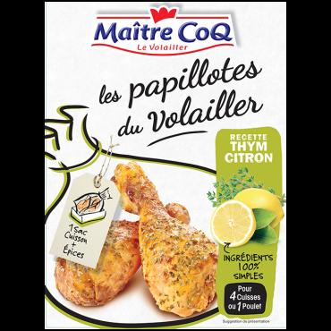 Papillotes du Volailler Thym & Citron