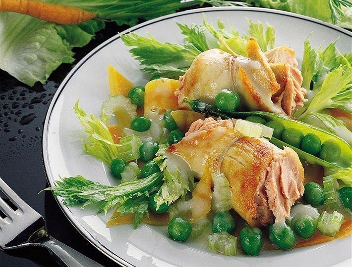 Recette de Paupiettes de poulet au fois gras.
