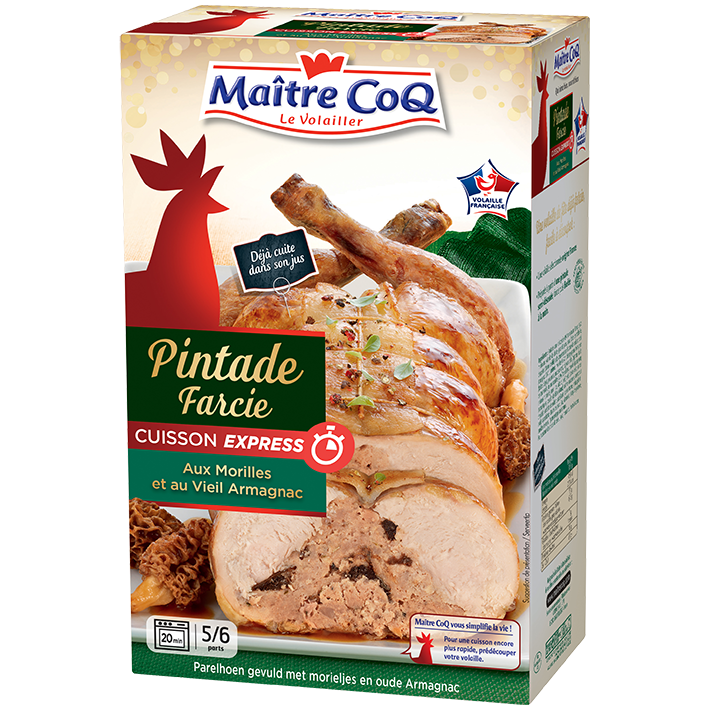 Pintade semi d soss e cuisson express farcie aux morilles - Cuisson oeuf a la coq ...