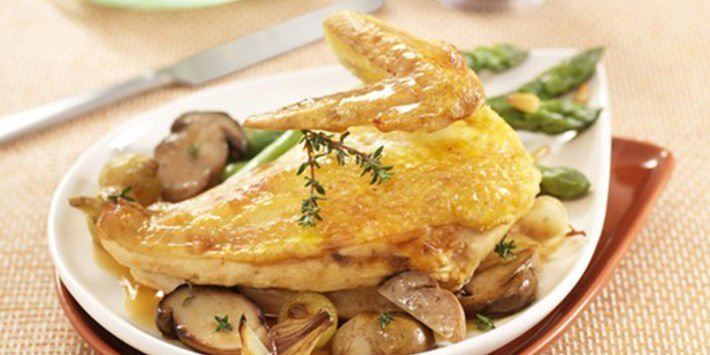 Recette de poulet aux cèpes Maître CoQ.