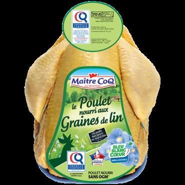 Poulet entier certifié Graines de lin