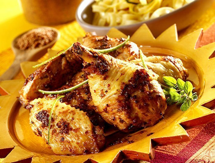 Recette du quotidien, poulet mariné miel et moutarde.