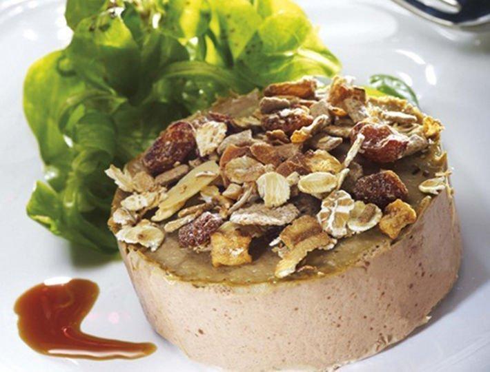 Recette de terrine de foies de poulet au lait de soja et muesli, Maître CoQ.