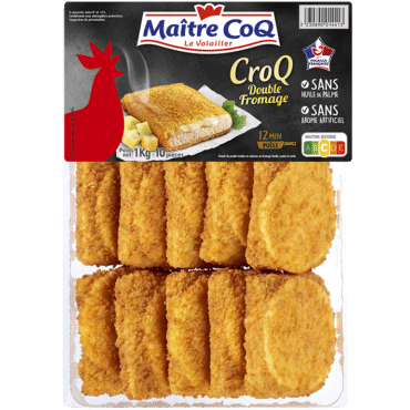 CroQ de poulet double fromage format familial