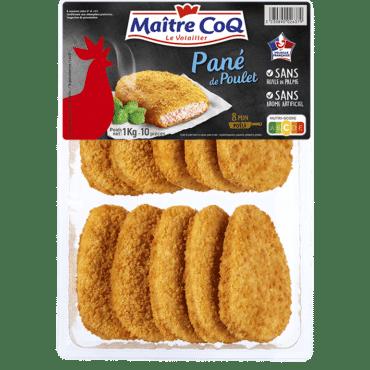 Panés de poulet format familial