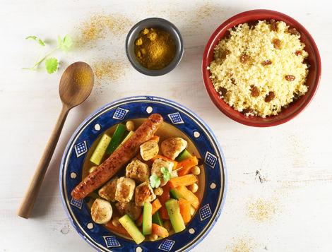 Vous aimez les plats Maghrébins ? Maître CoQ, vous propose son couscous de poulet express réalisé avec de bons filets de poulet