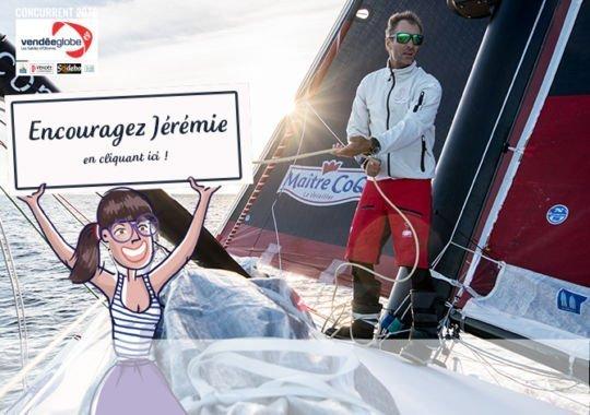 encouragement / Véndée Globe / Jérémie Beyou
