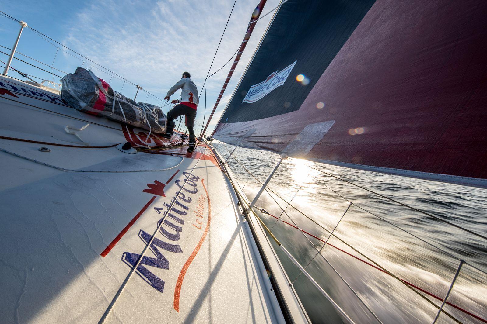 Vendée Globe 2016 - Maître CoQ - Jérémie Beyou : Jérémie Beyou dans le Pacifique