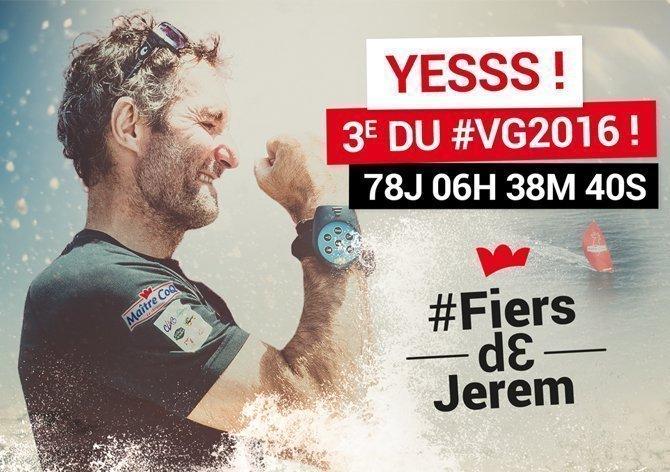 arrivée de Jérémie Beyou / Vendée Globe / Les Sables d'Olonne