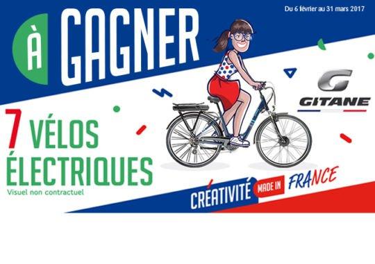 Gagnez 7 Vélos Electriques Gitane