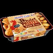 un bon poulet patates pour 2 prêt en 4 minutes !