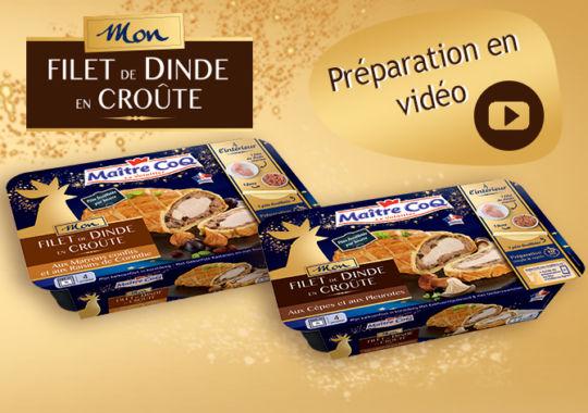 Découvrez la préparation de Mon Filet de dinde en Croûte en vidéo