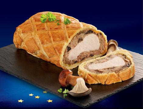 Découvrez la recette de Mon filet de dinde en croûte aux Cèpes & Pleurotes. Une préparation rapide en 10 minutes seulement !