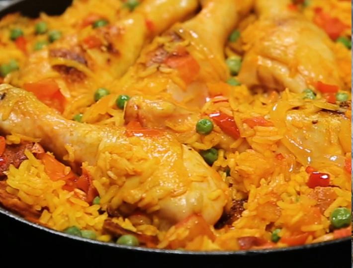 Paëlla rapide au poulet et au chorizo