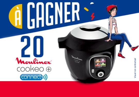 Tentez de gagner votre Cookeo+ Connect de Moulinex. Ce multicuiseur est un véritable assistant culinaire qui vous aide à préparer vos plats, en quelques clics.