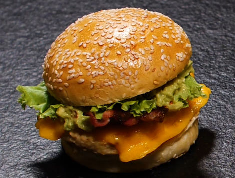 Hamburger de hachés de poulet