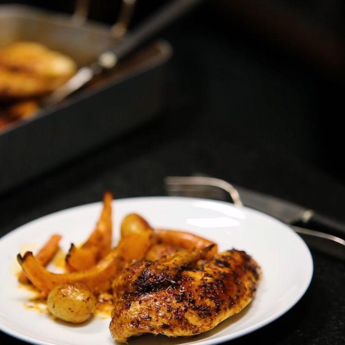Découvrez notre recette du poulet rôti aux épices Cajun