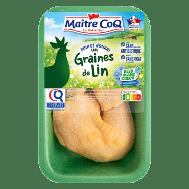 Cuisse de poulet certifié Graines de lin