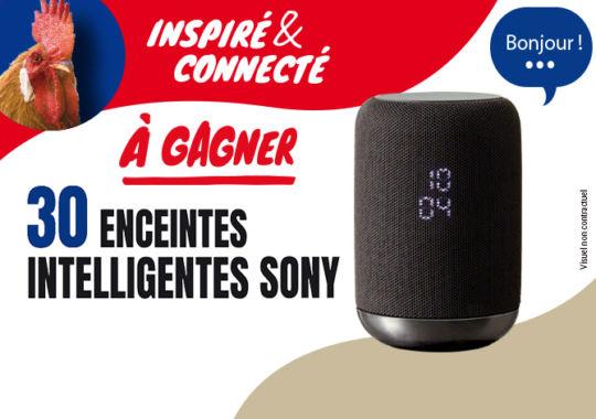 Avec les produits Maître CoQ, tentez de gagnez une des 30 enceintes intelligentes de la marque Sony