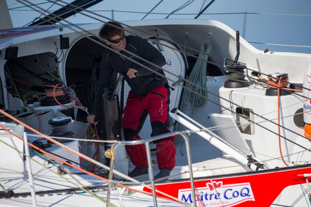 Le skipper Maître CoQ : Yannick Bestaven