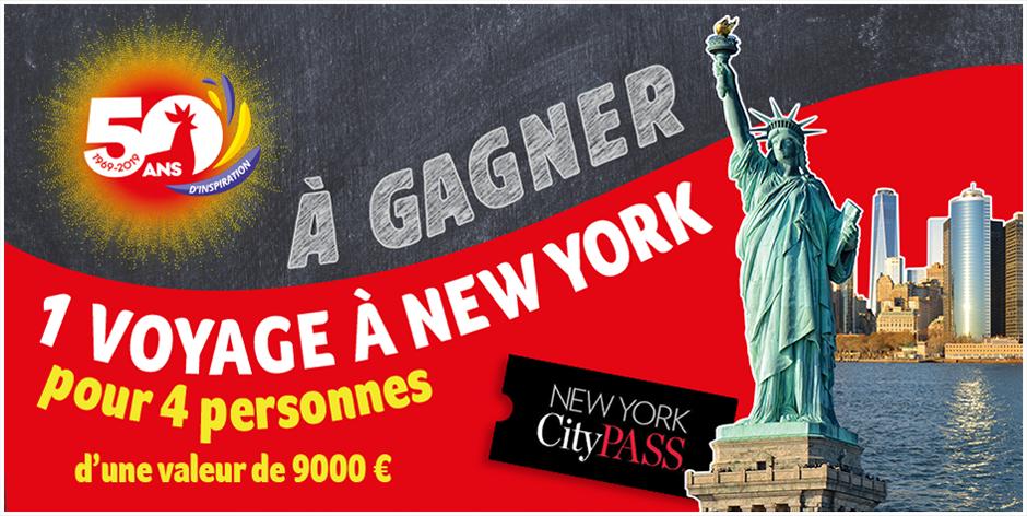 Tentez de gagner 1 voyage à New York pour 4 personnes !