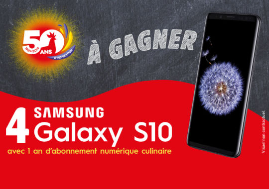 Tentez de gagner un téléphone Samsung S10 avec un abonnement culinaire.