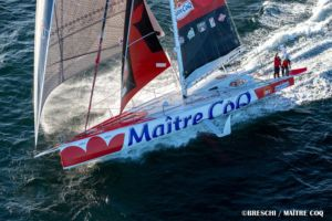 Transat Jacques Vabre, Yannick leader de l'option ouest