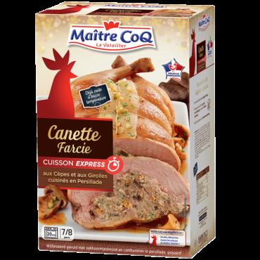 La Canette farcie Cèpes et Girolles cuisinés en persillade Cuisson Express est pratique : seulement 20 minutes de réchauffage !