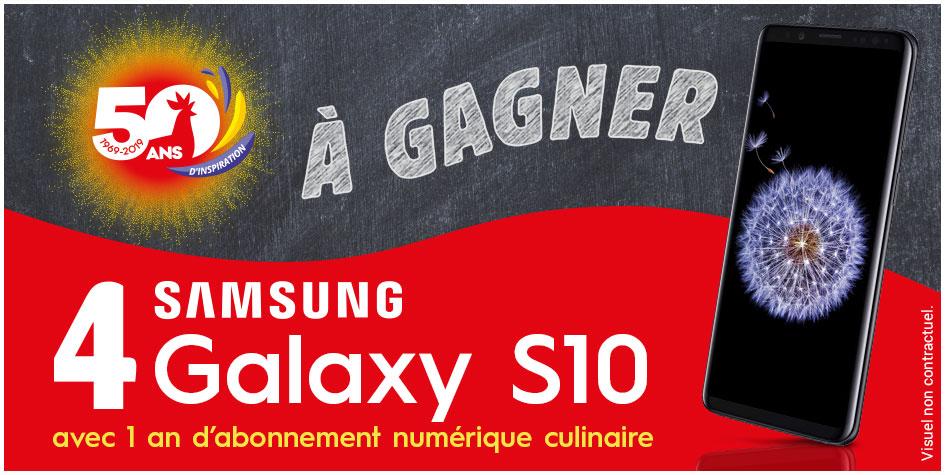 Tentez de gagner 1 Samsung Galaxy S10 avec un abonnement culinaire